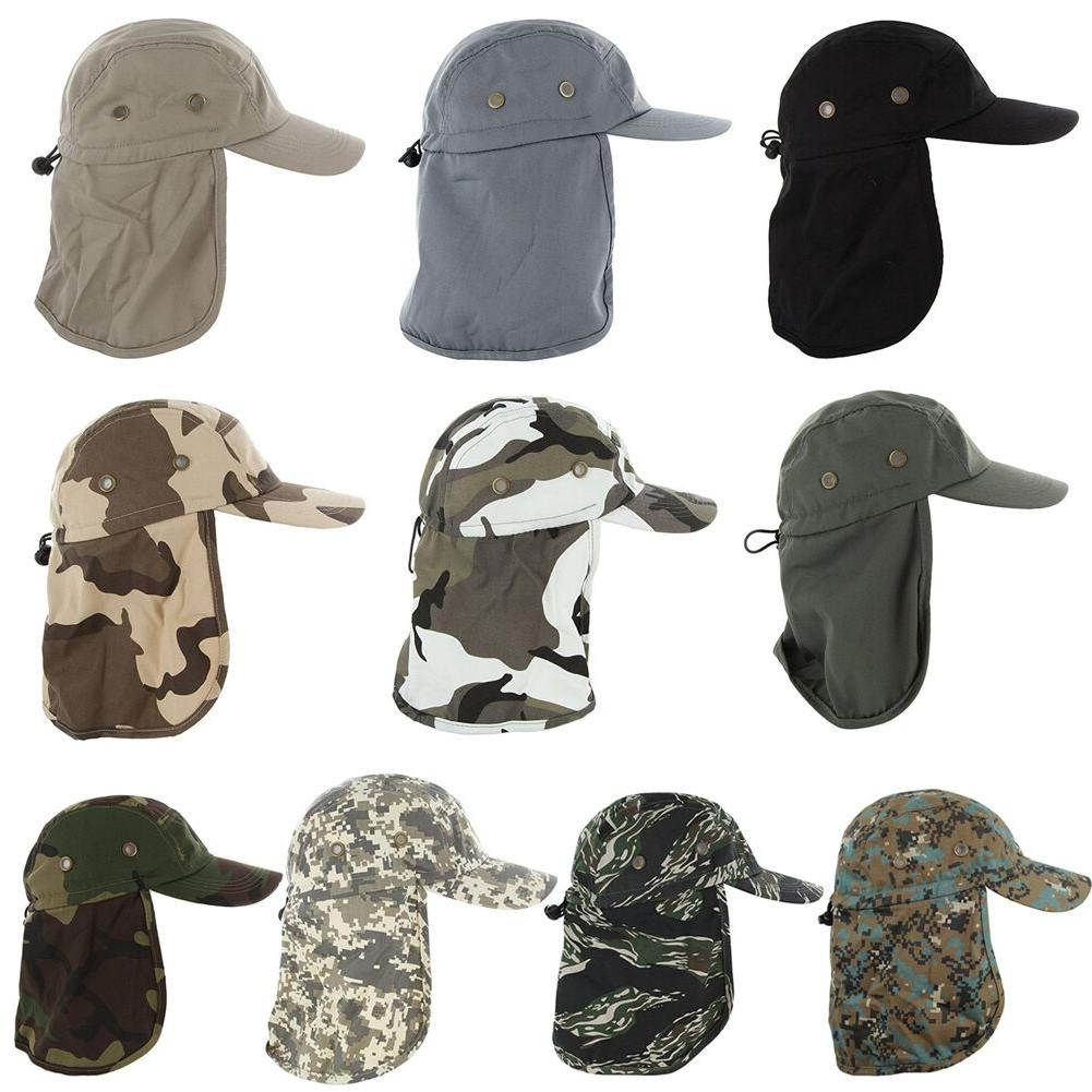 Ear Flap Hat Neck Cover Boonie Camo Fishing Hiking Outdoor B