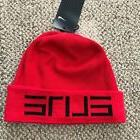 Nike Elite Knit Basketball Beanie Hat Cap Red Black Unisex O