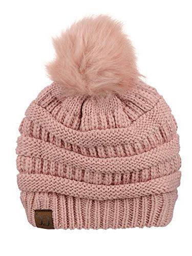 exclusive soft stretch cable knit faux fur