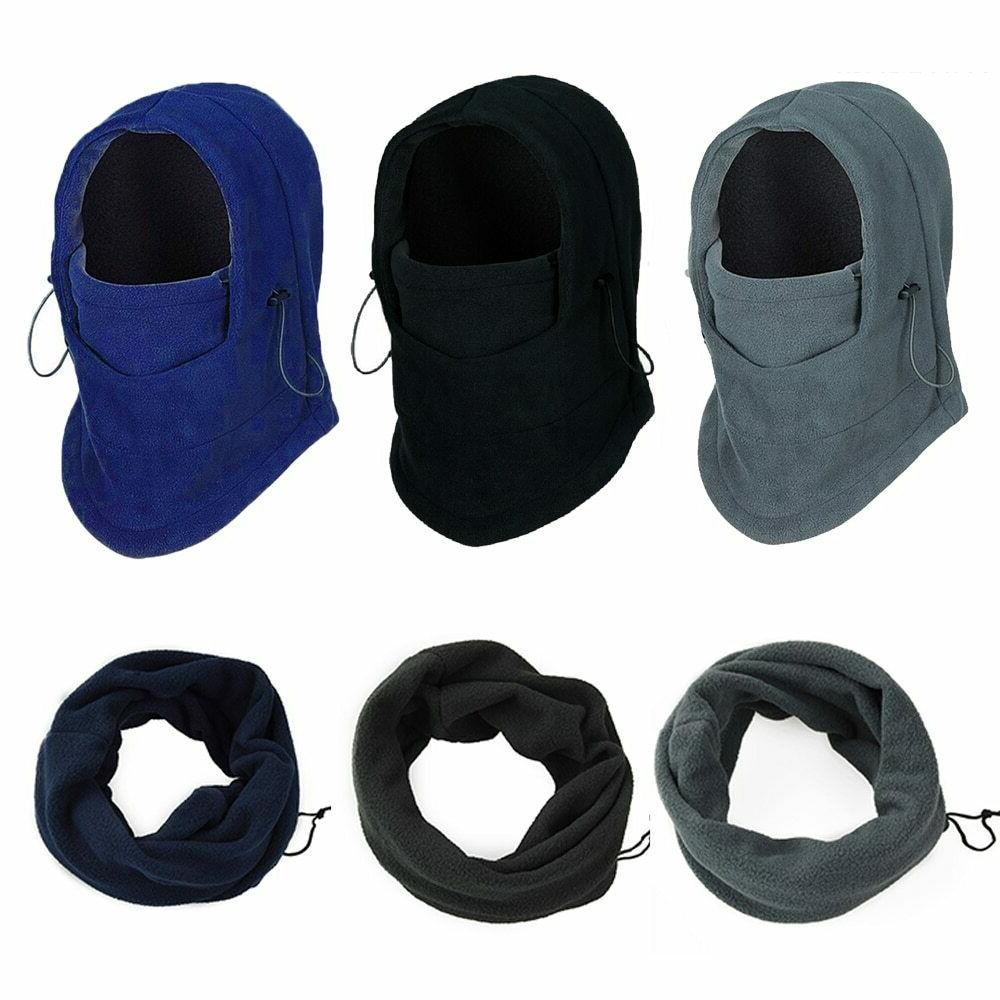 Face Mask Hats Soft Fleece Bike Windproof Woman Men's Headdr