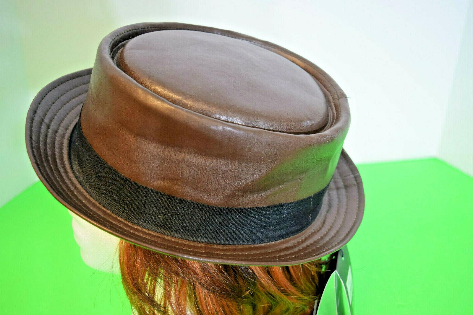epoch Faux Leather Pie Fedora Size S/M