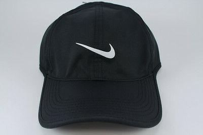 NIKE FEATHER LIGHT DRI-FIT ADJUSTABLE CAP HAT BLACK/WHITE TR