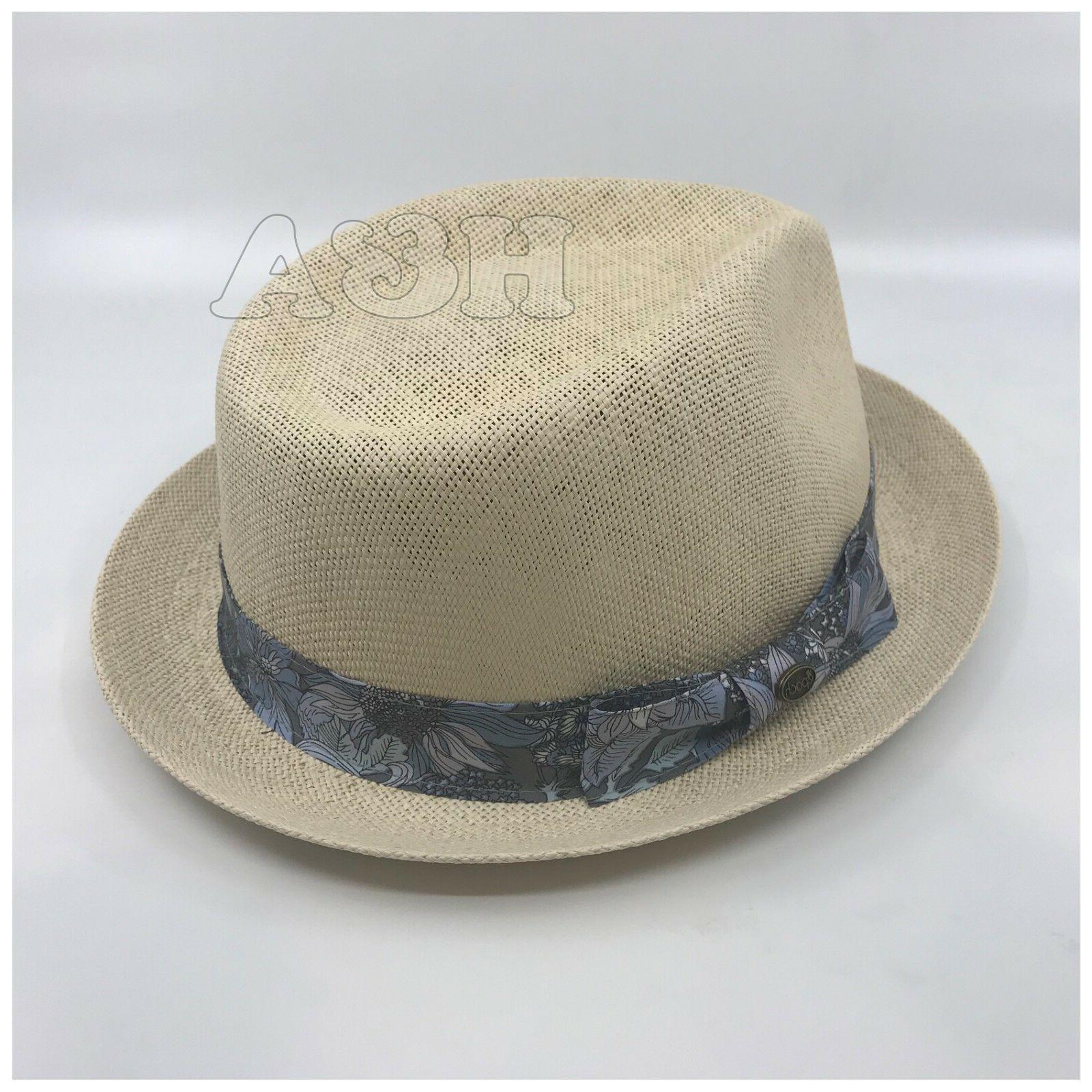 Epoch Paisley Lightweight Fedora Brim Hat Natural