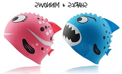 Kids' Fun Silicone Swim Cap by Start Smart Sports Pink