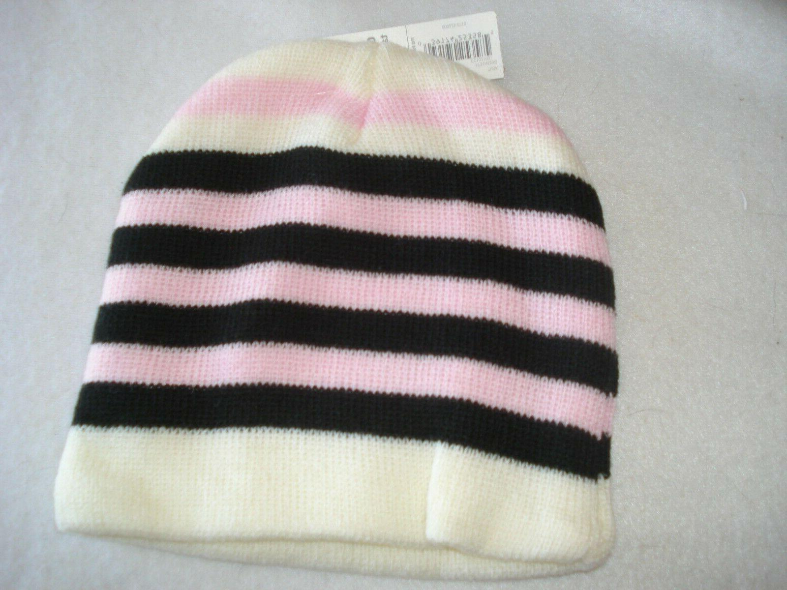 Girls Knit Hats Size 2 Striped Toddler