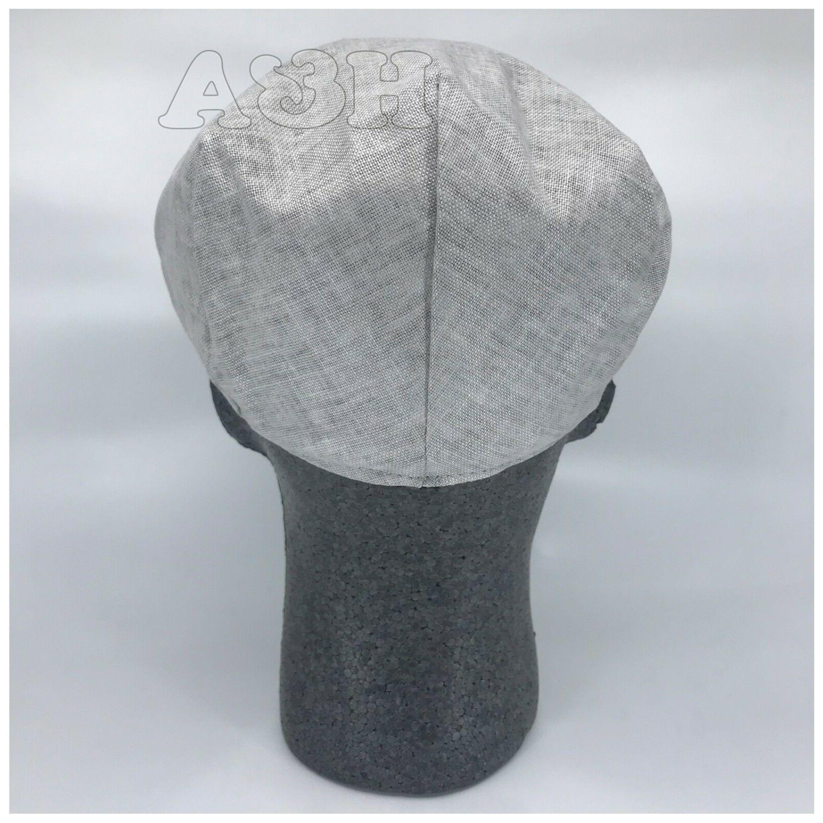 Epoch Linen Flat Ivy Newsboy Cap Hat Lt Gray