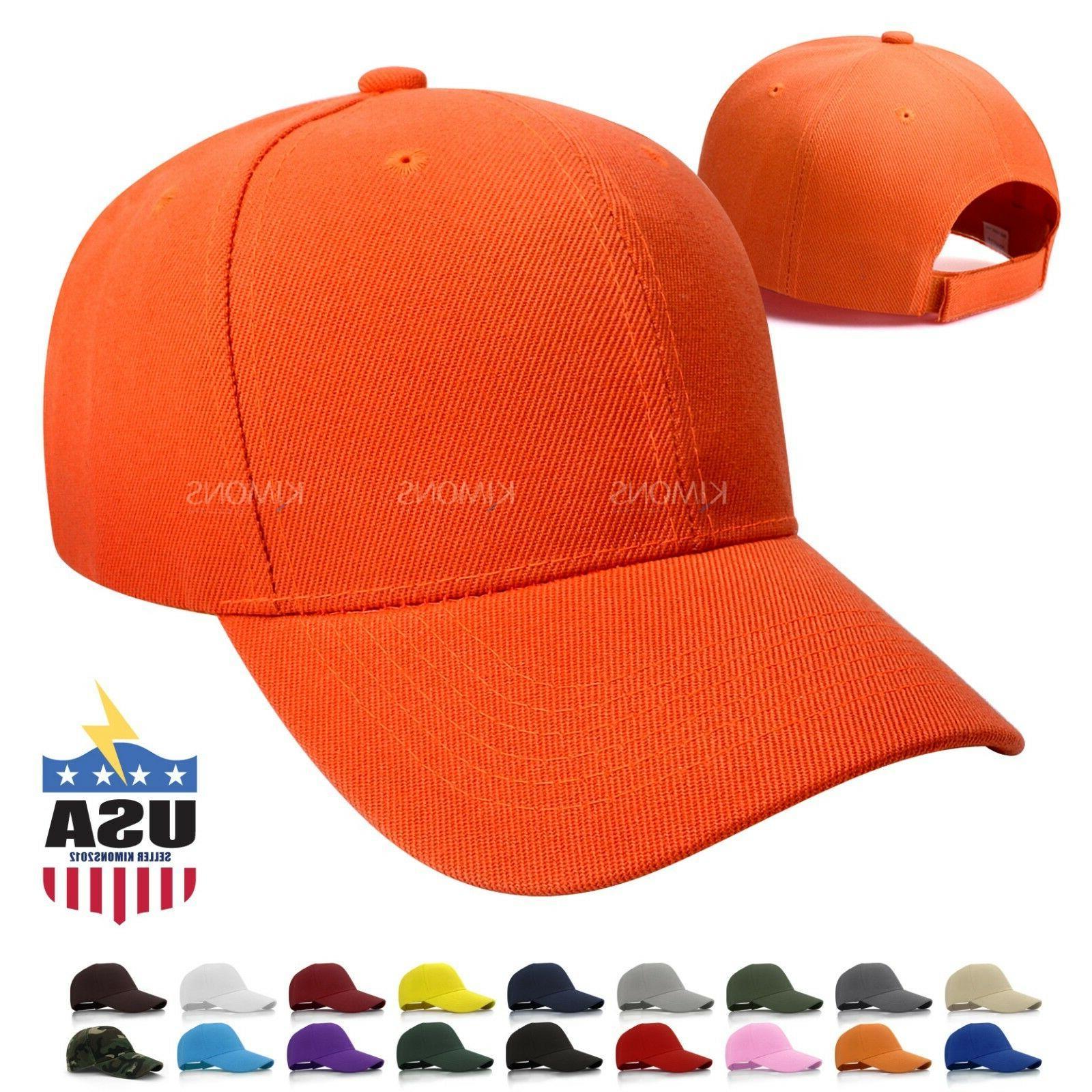 Hook-N-Loop Cap Solid Blank Hat Adjustable Men