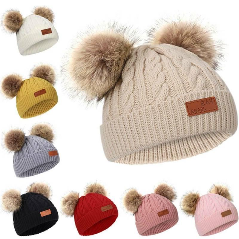 Toddler Kids Infant Boys Girls Winter Fur Cap