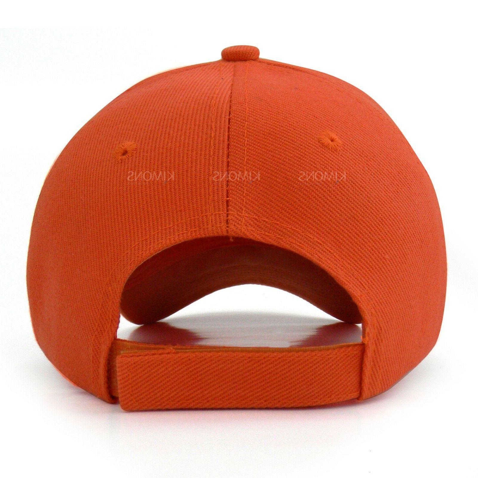 Hook-N-Loop Plain Baseball Solid Blank Hat Men