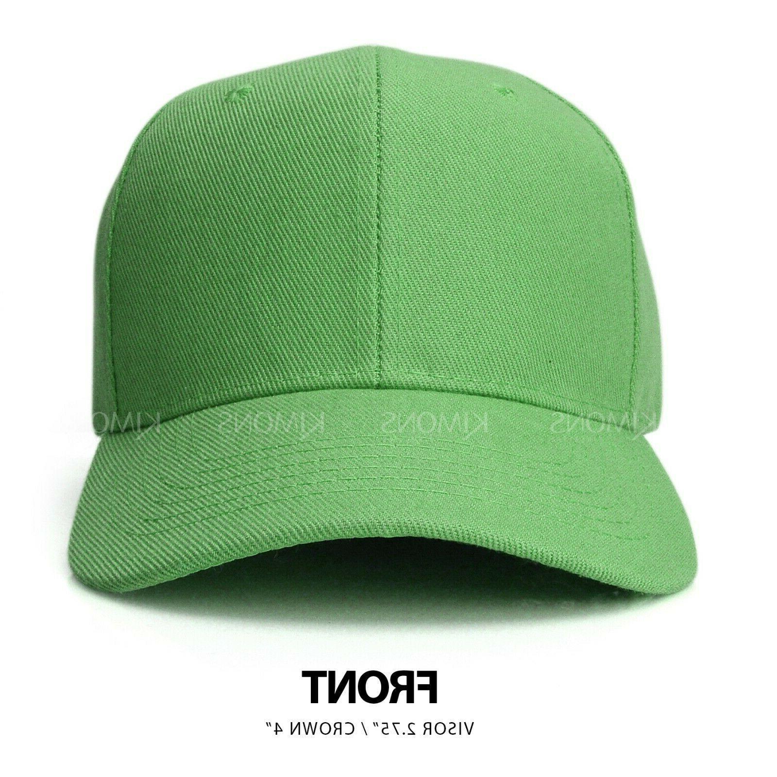 Plain Color Blank Army Hat Ball Men Women Hook-N-Loop