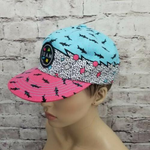 Maui and Mens Zig 80s 90s Snapback Hat Cap Surf Street Skate