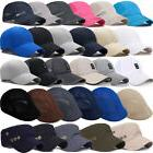Men Plain Washed Cap Style Cotton Adjustable Baseball Cap Bl