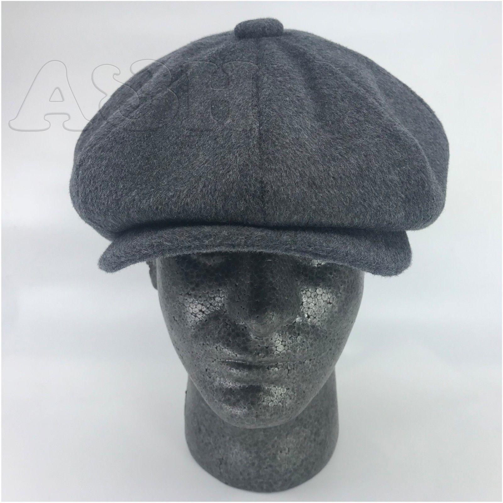 Men's Premium Wool Newsboy Hat Cap