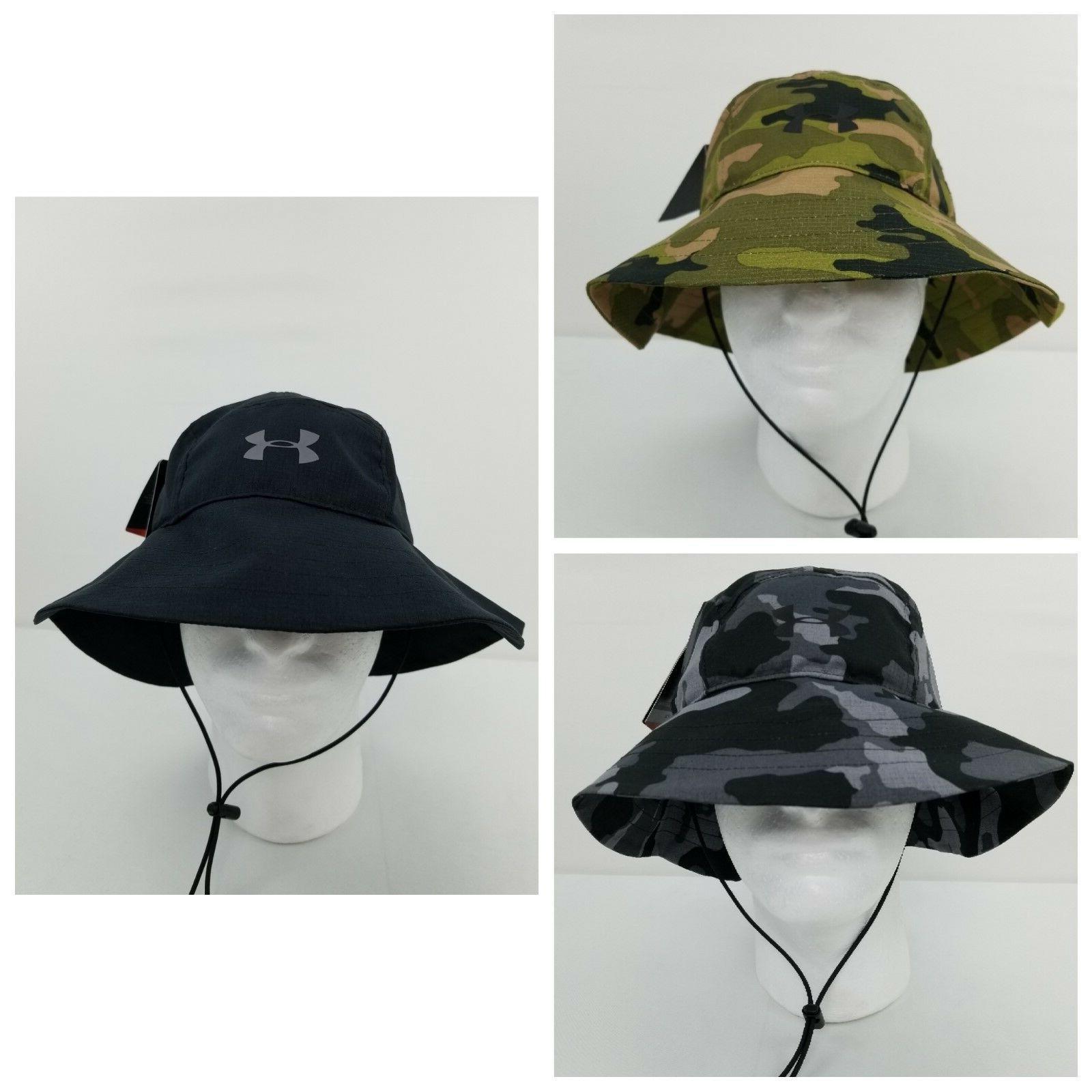 Under Armour Men's ArmourVent Camo Black Bucket Hat 1273240