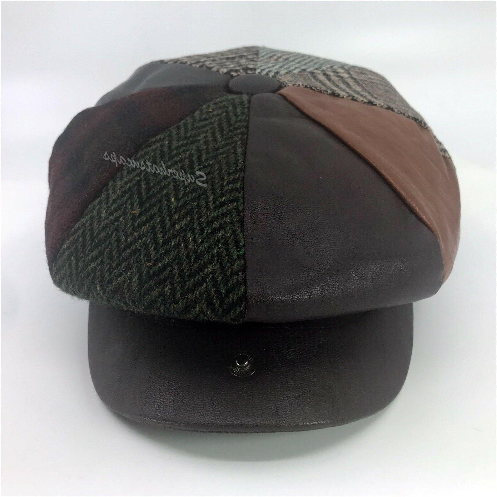 Men's Cabbie Jack Ascot Plaid Wool Blend Hat