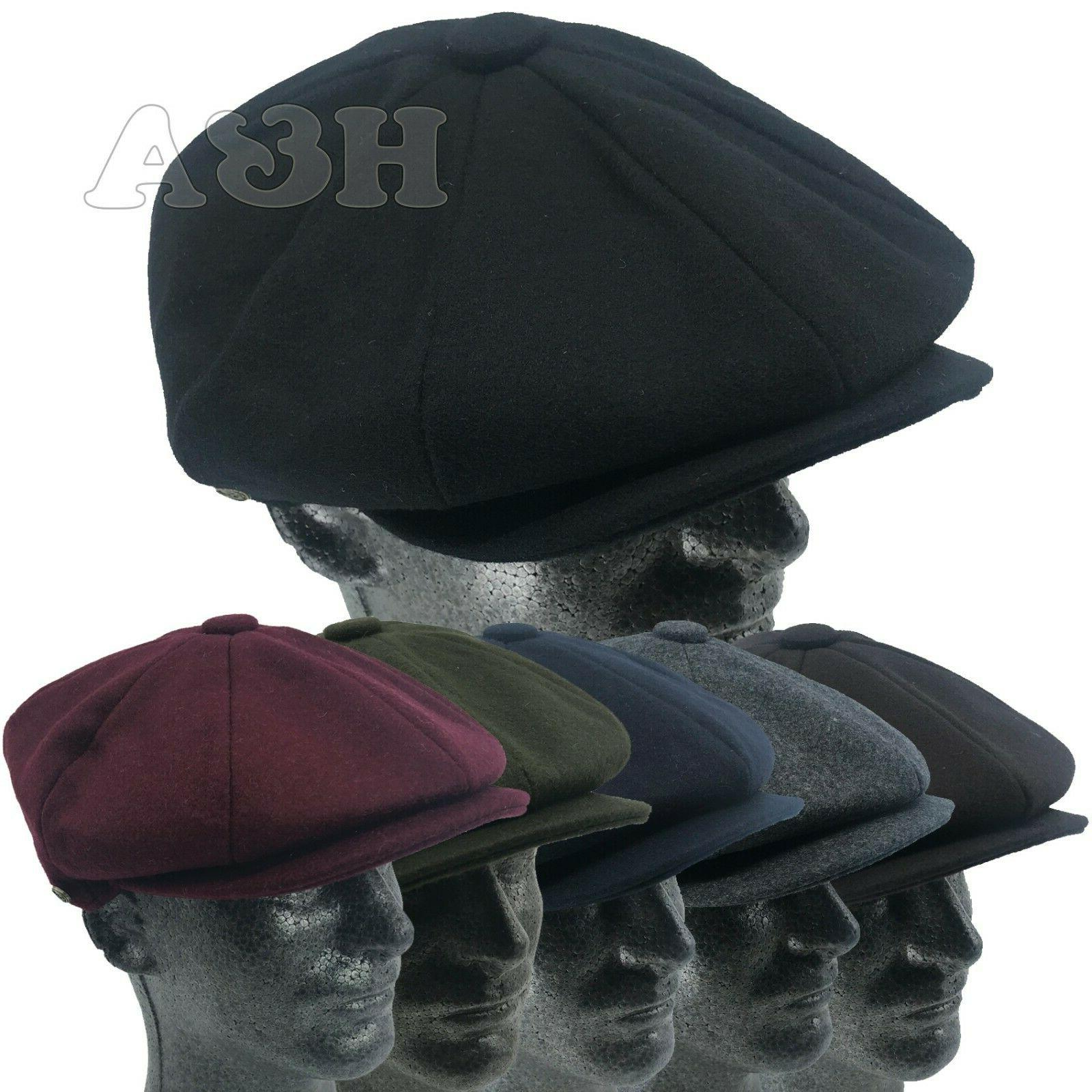 men s classic 8 panel newsboy snap
