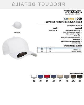 Flexfit Fitted Baseball Plain Cap, 5001, S/M-L/XL