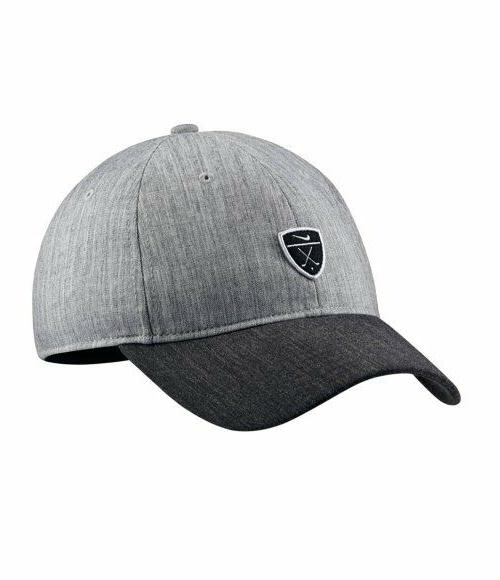 Nike Men's Golf Heritage 86 Novelty Cap Hat Gray Dry-Fit Lig