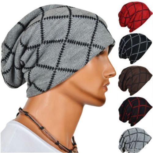Hot Men's Hat Autumn Winter Knitted Hats Caps Warm Skullies