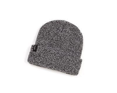 men s heist beanie hat black grey