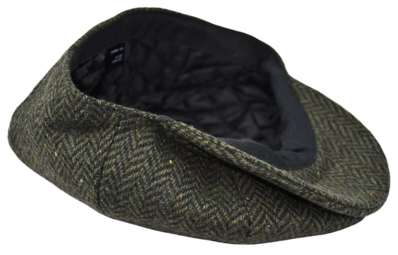 Men's Herringbone Tweed 8 Panel Hat NS2746