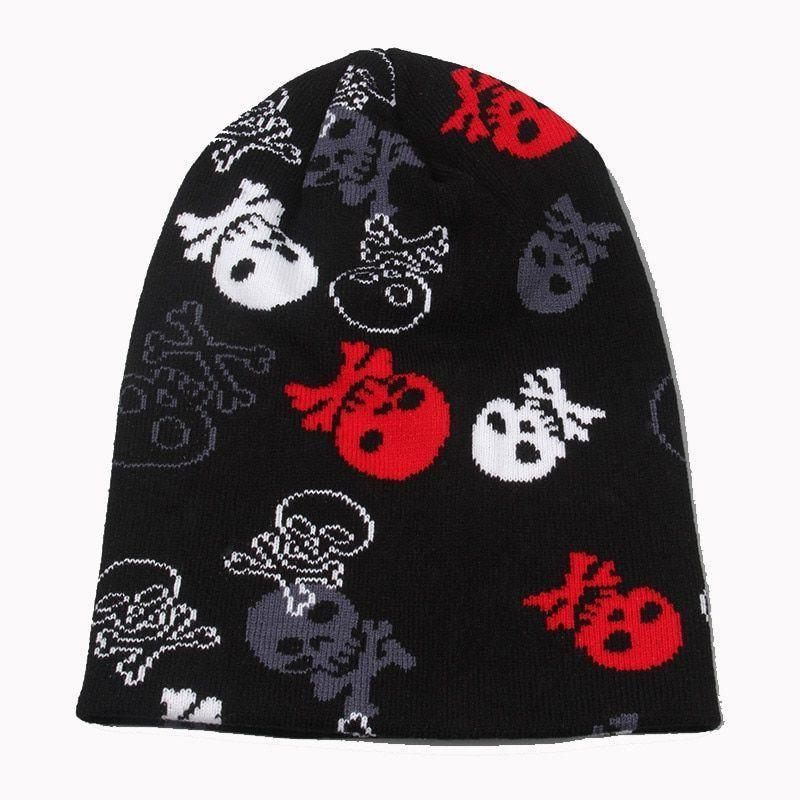 Men's Knitted Winter Hats Skull Skeleton Warm Soft Beanies S