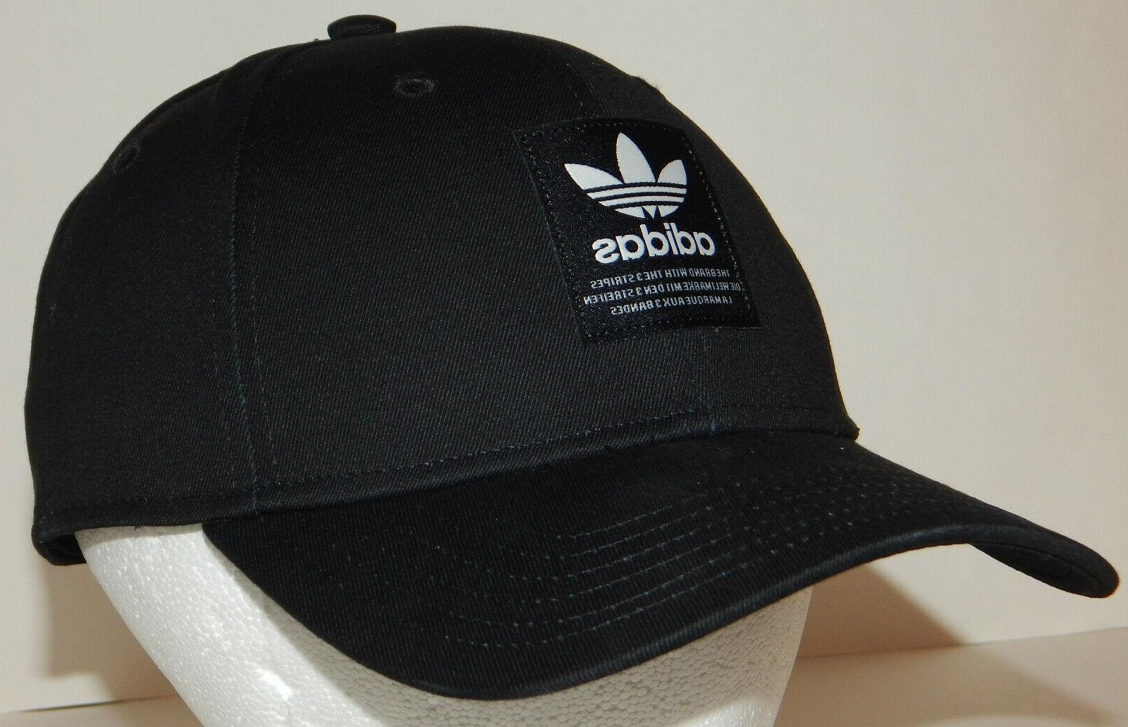 Adidas Men's Originals Patch Hat / Cap Trefoil Snapback Blac