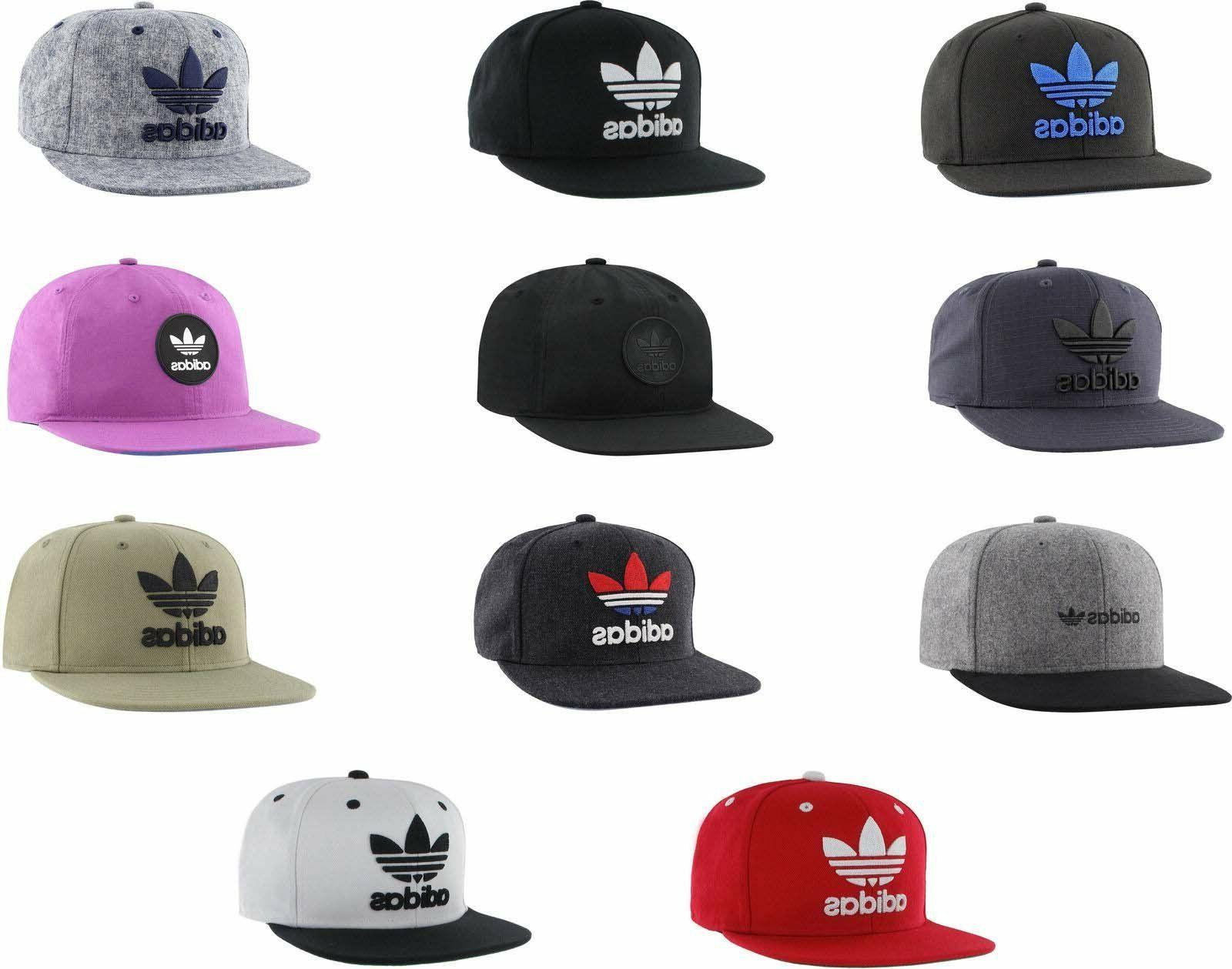 Adidas Men's Originals Snapback Flatbrim Cap Hat Trefoil Log