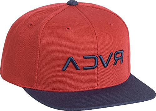 men s twill snapback hat red navy
