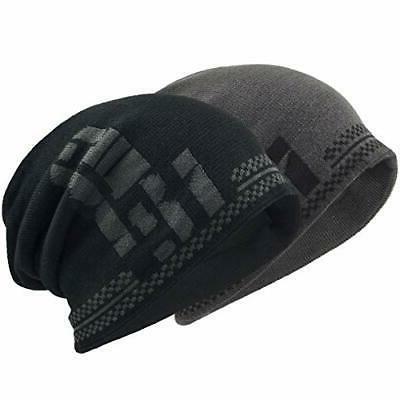 men slouchy beanie hat unisex skull cap