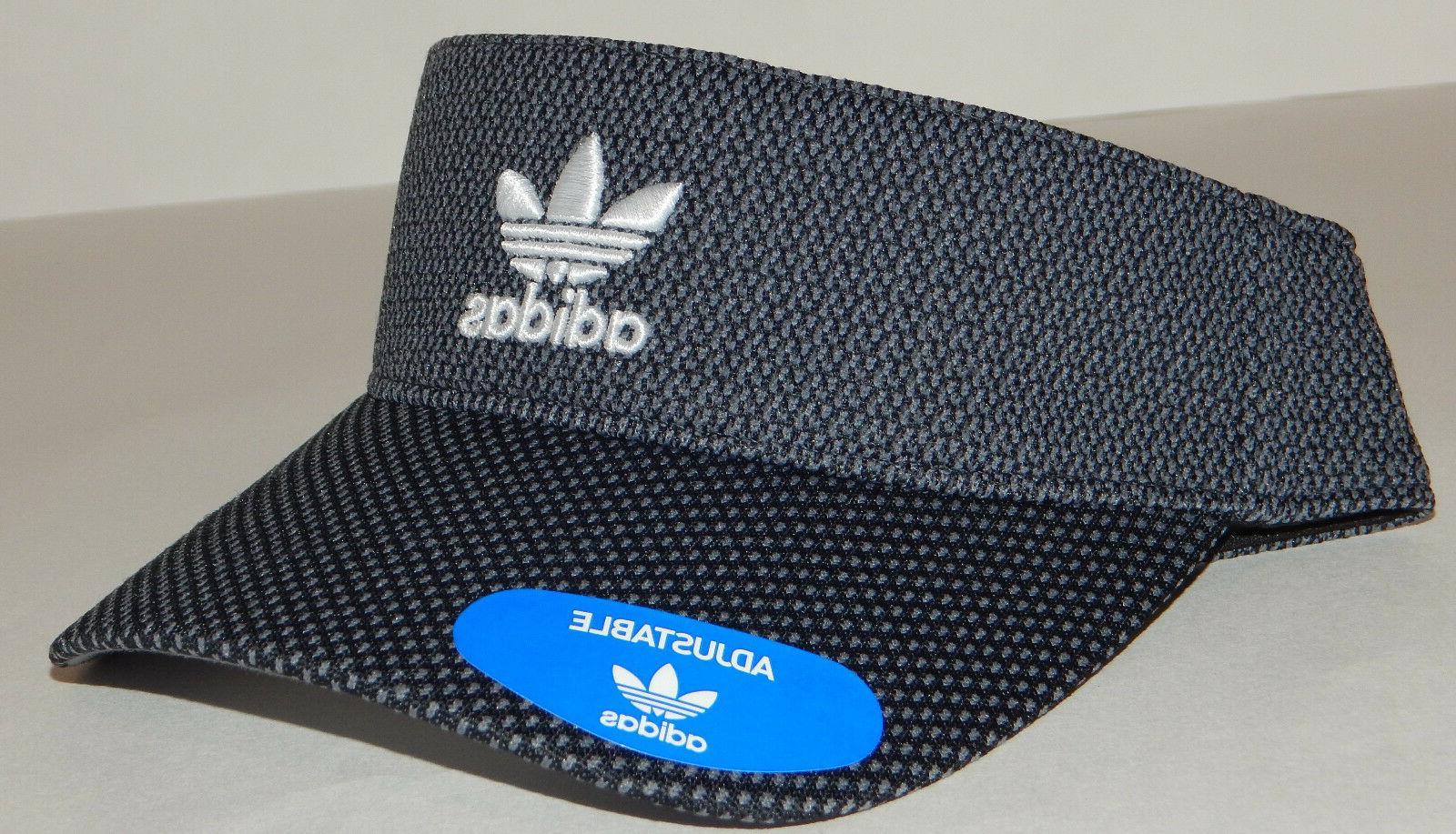 Adidas Mens Originals Visor Hat/Cap NEW Trefoil Strapback Bl