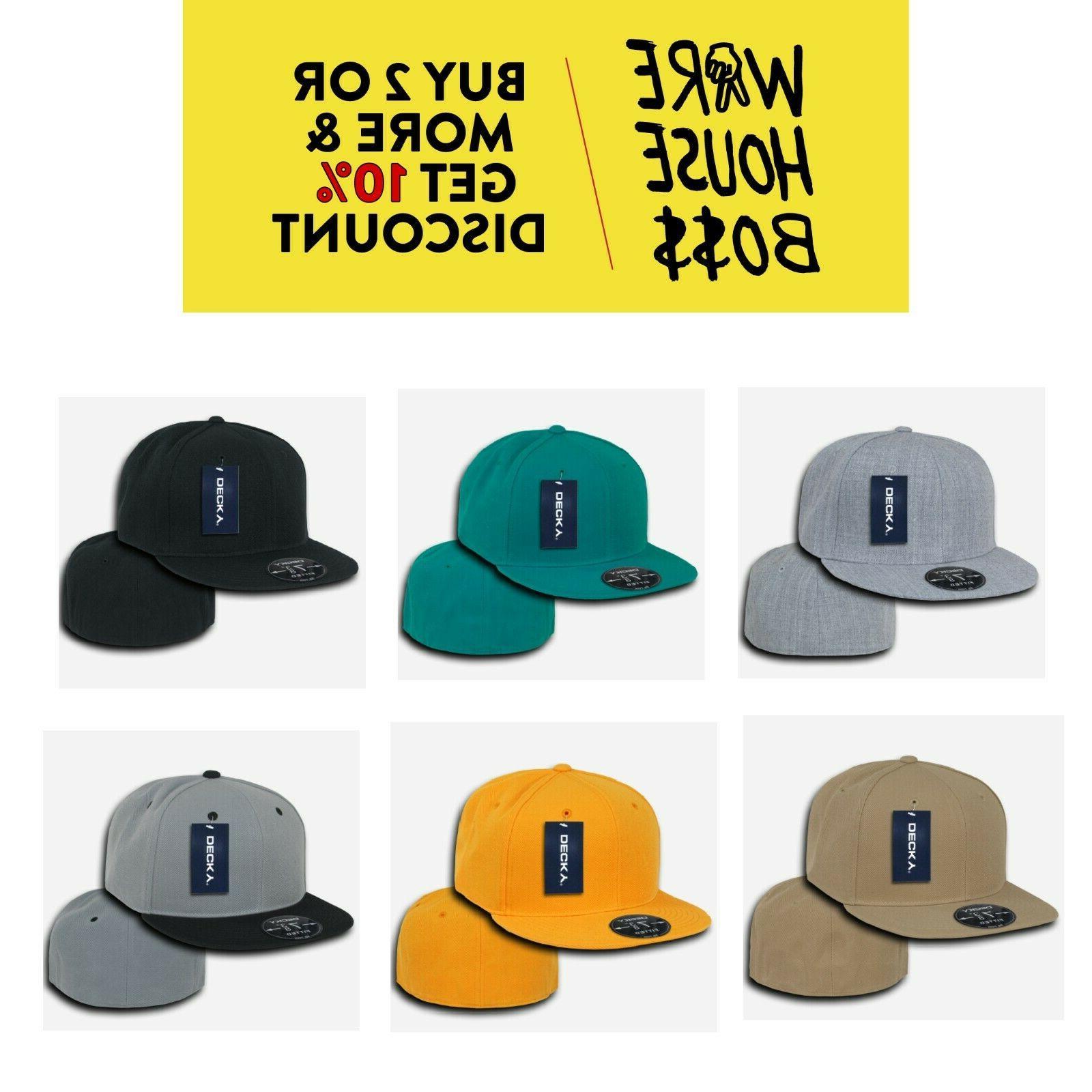 mens plain hat flat bill baseball cap
