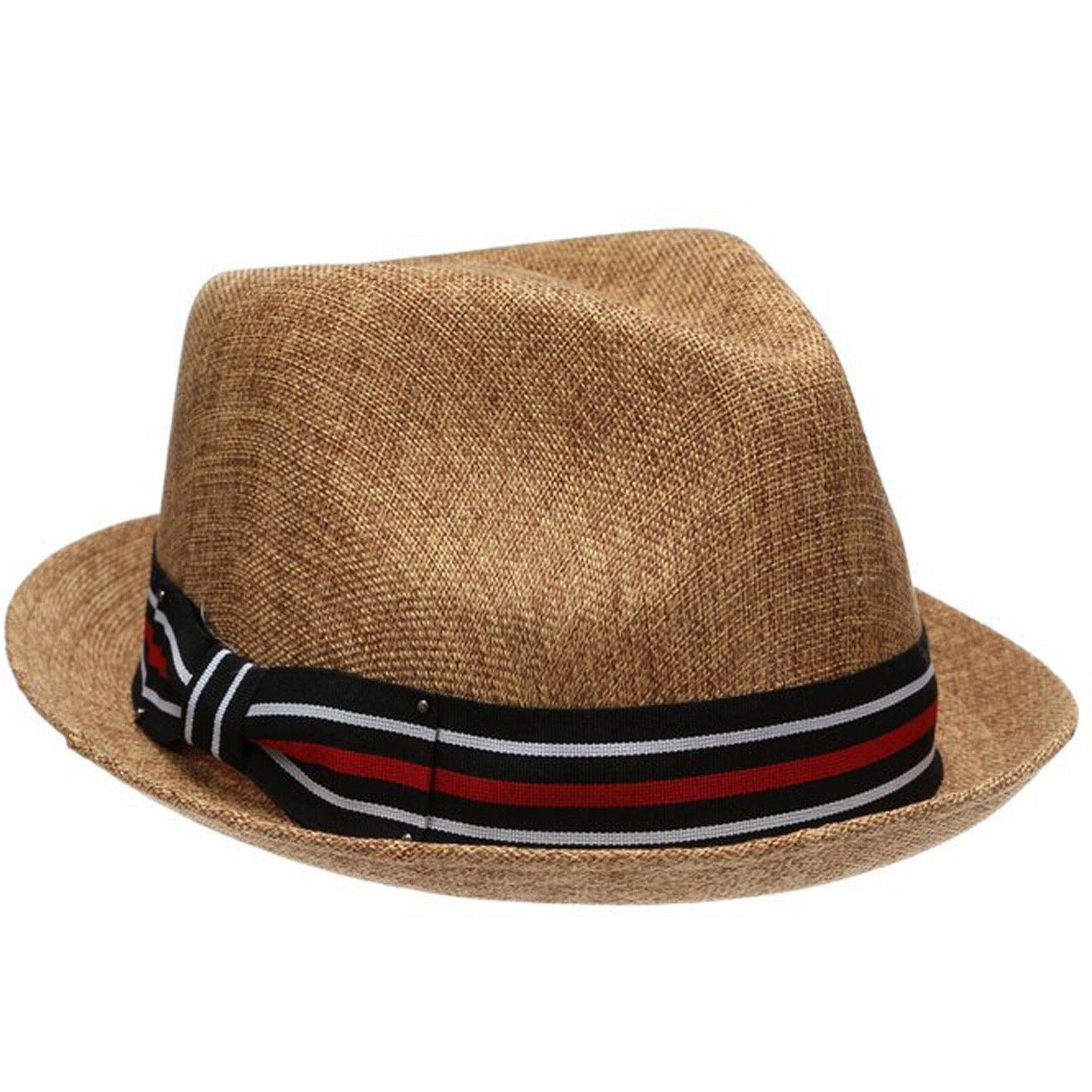 mens summer fedora hat stingy brim linen