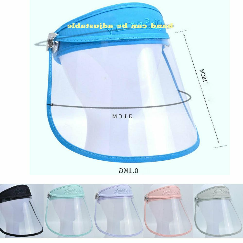 mens women safety face shield hats accessories