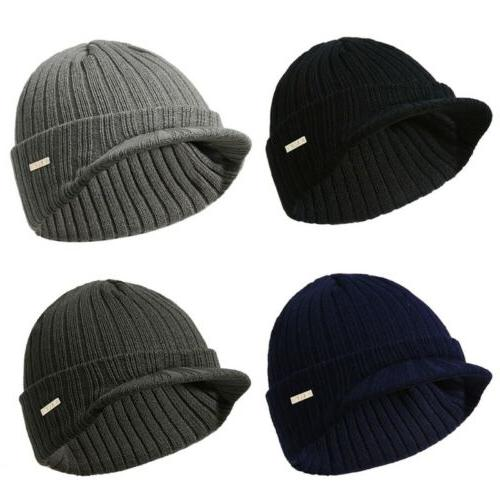 Mens Womens Winter Beanies Hat Skullies Winter Warm Knitted