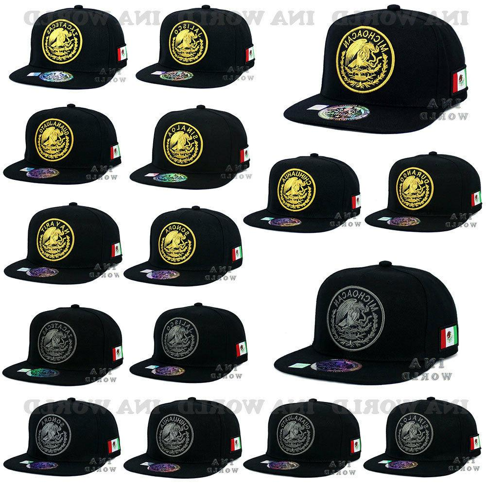 mexican hat mexico federal logo state snapback