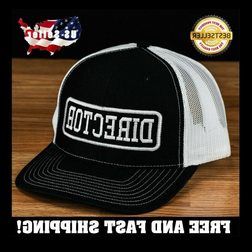 Movie Director Embroidered cap hat black Richardson 112 cust