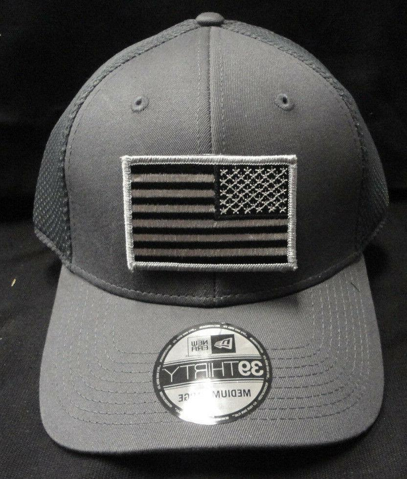 New Era NE1020 Charcoal Mesh FlexFit Hat With Subdued Grey A