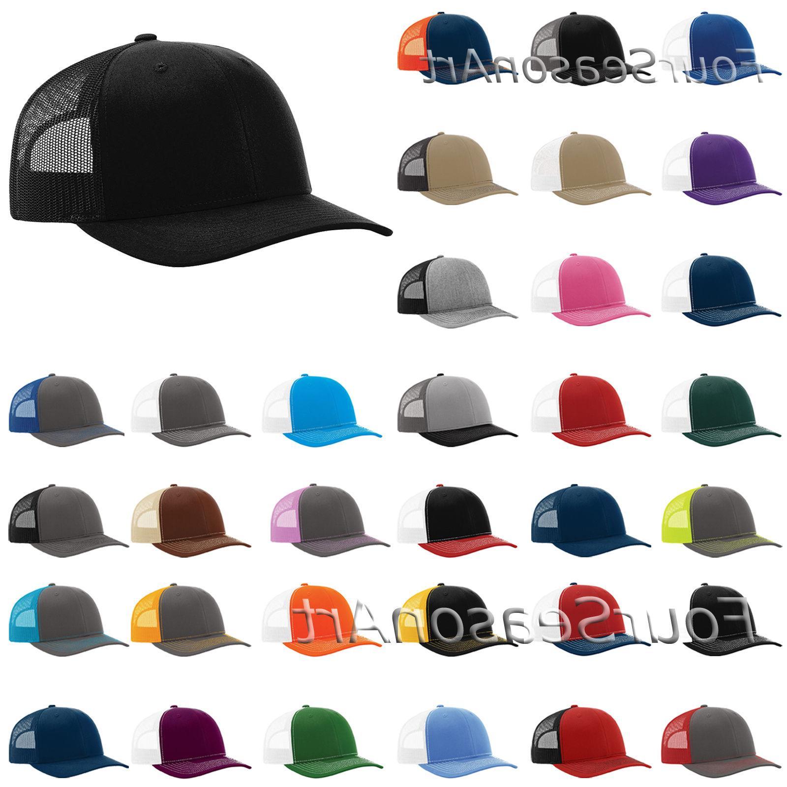 Richardson Trucker Ball Cap Meshback Hat Snapback Cap-112