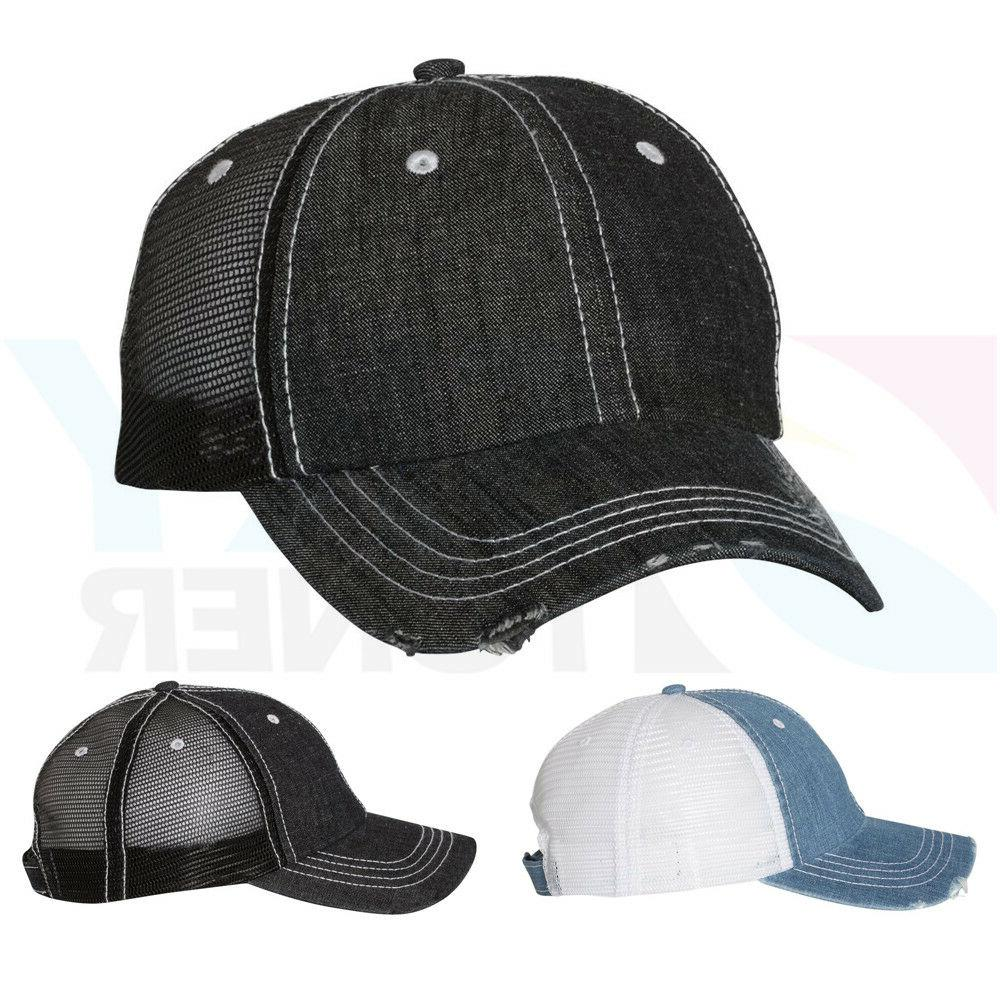 New Herringbone Unstructured Ball Cap Contrast Stitch Trucke