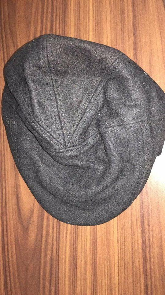 Herringbone Wool Blend Hat