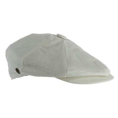 new men s linen newsboy cap