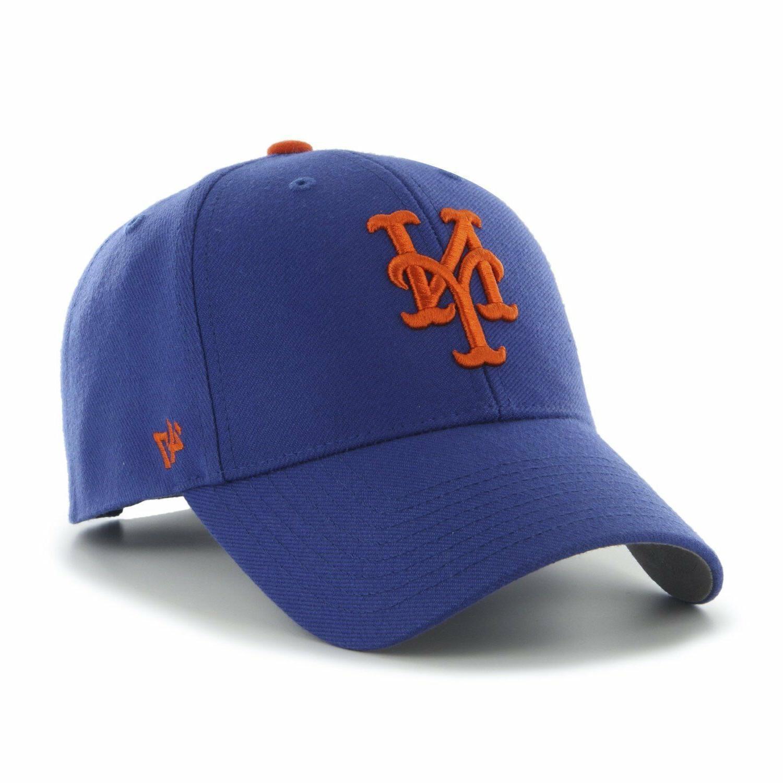 New York Mets 47 Brand MVP Strap Clean Adjustable On Field B