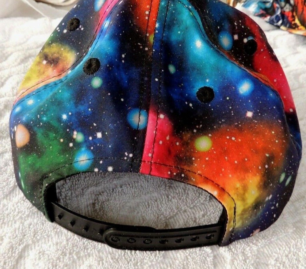 NWOT KBEthos Snapback Hat Galaxy Stars Brim