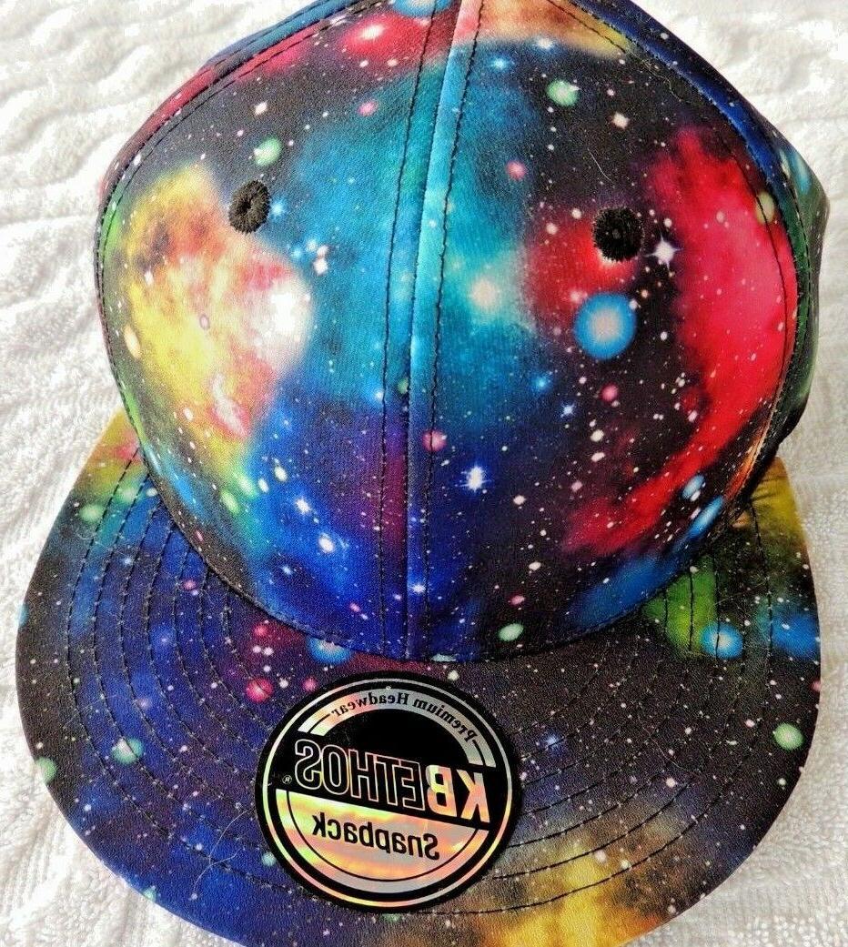 NWOT KBEthos Snapback Hat Galaxy Flat