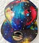 nwot snapback hat galaxy stars flat brim