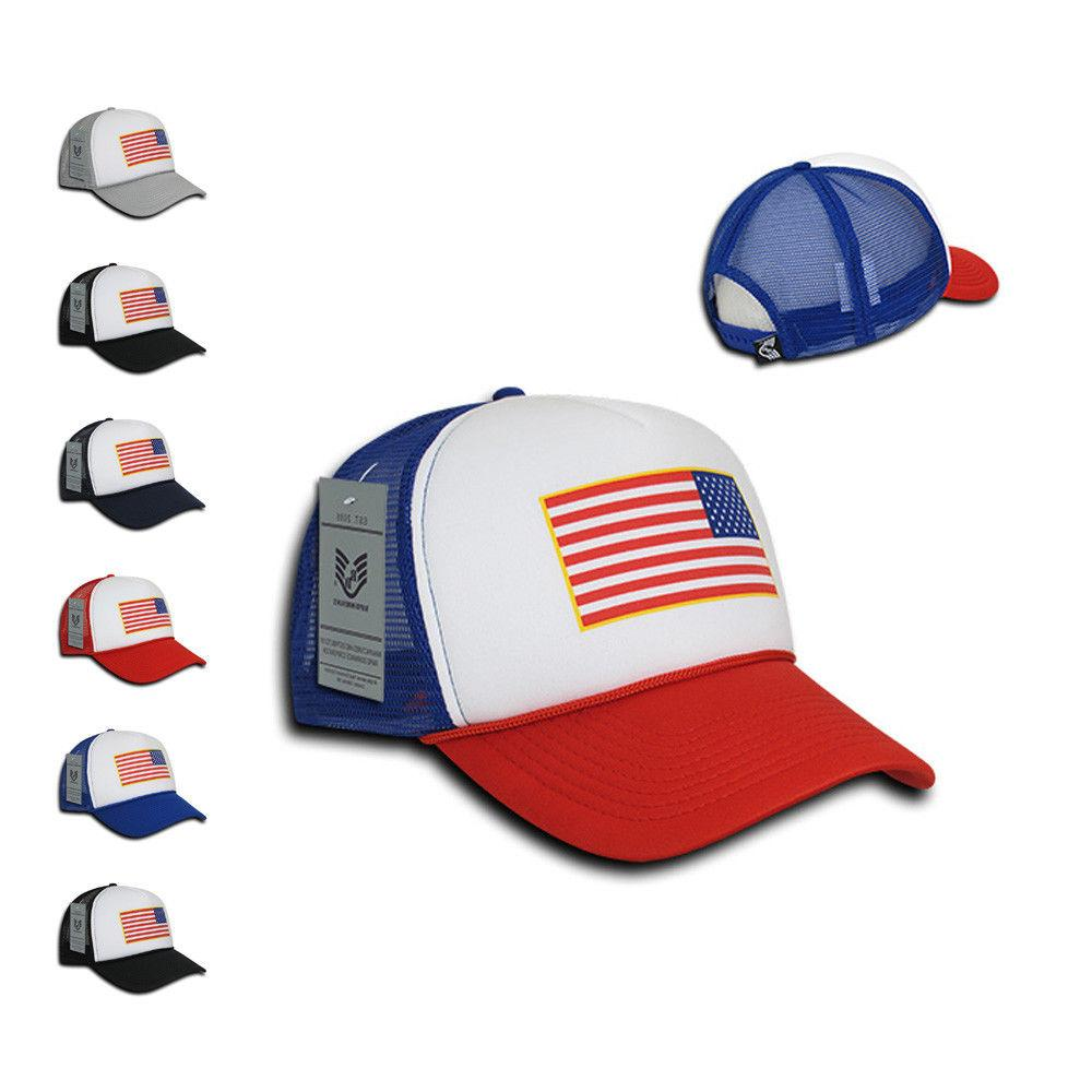 Rapid Dominance Patriotic USA Flag Classic Foam Mesh Trucker