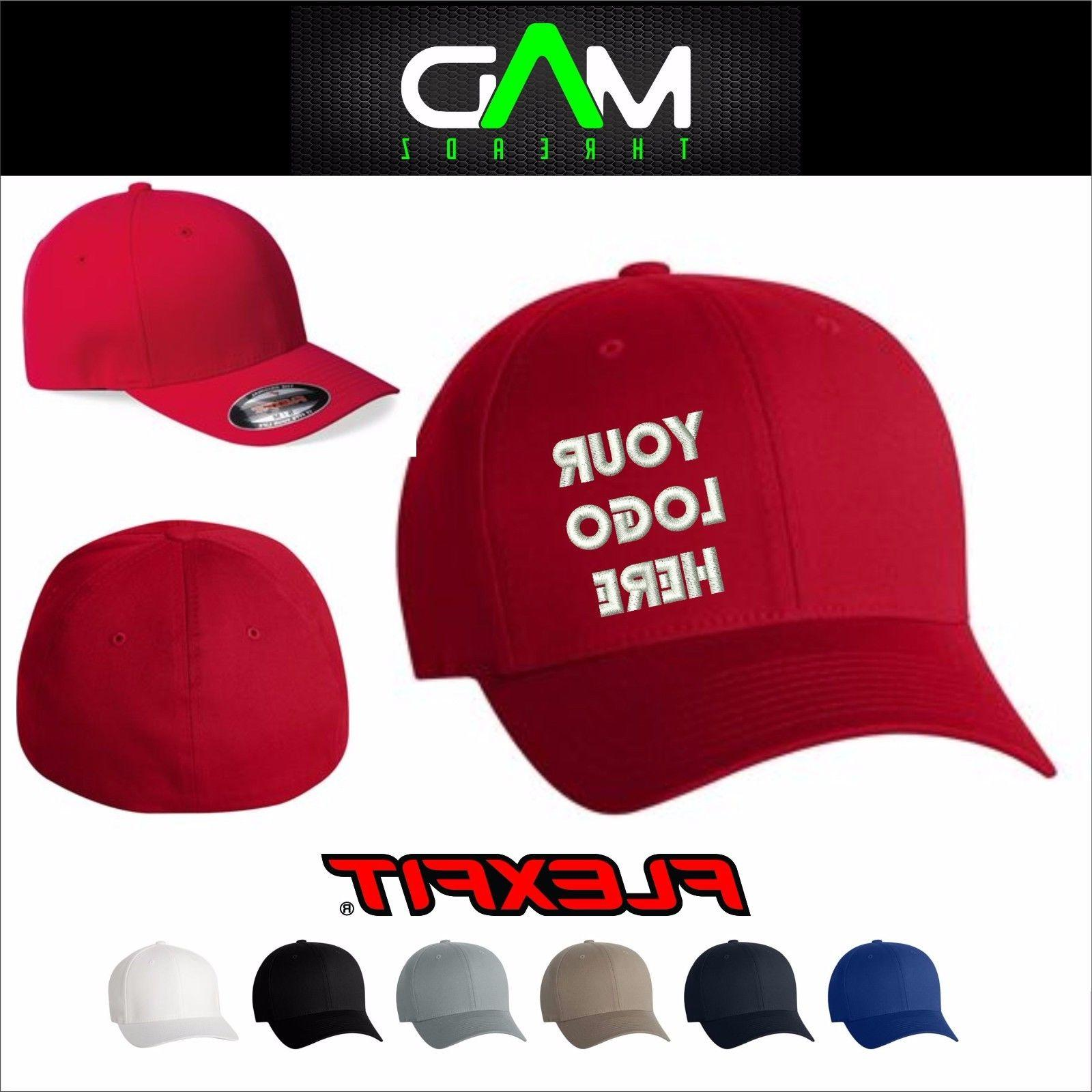 Personalized Custom made fitted Flexfit hat cap Custom Embro