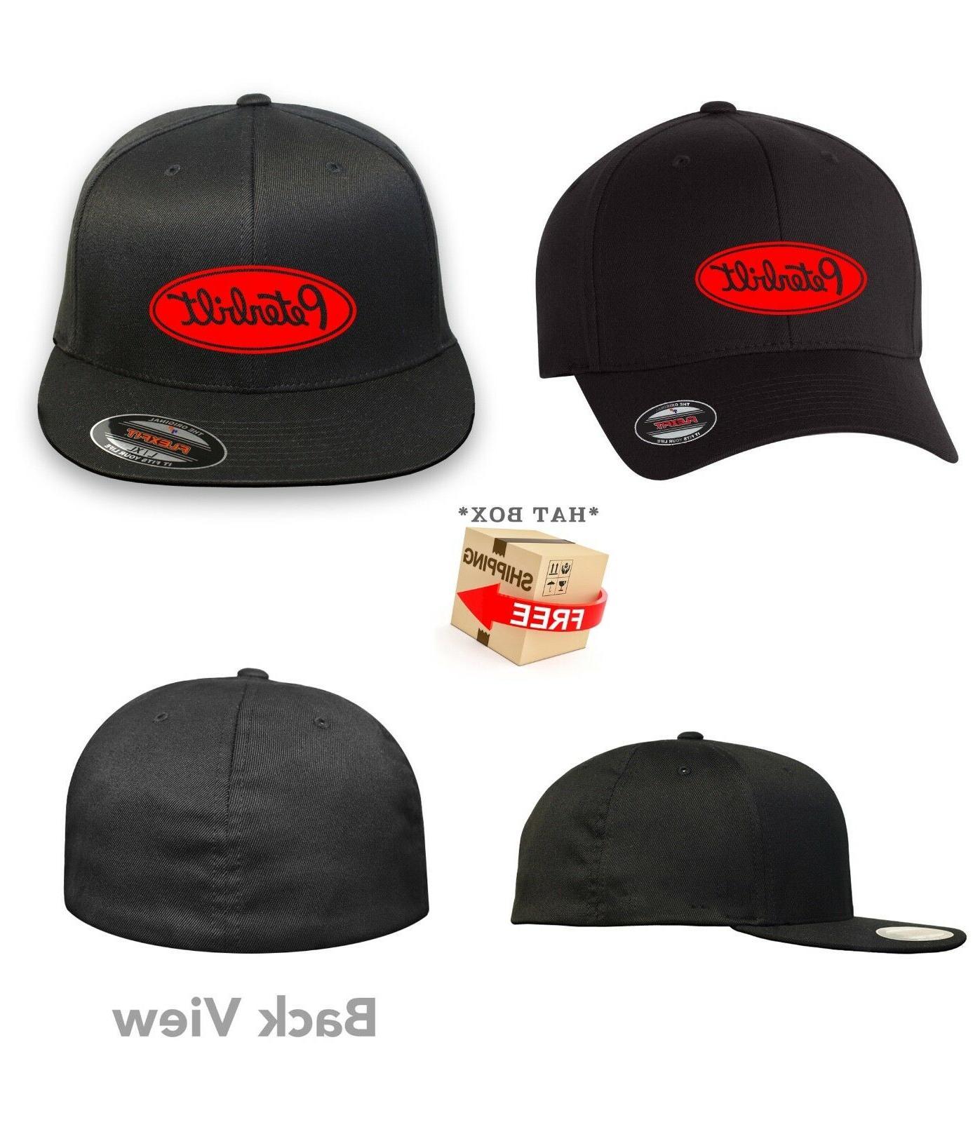 PETERBILT TRUCK Flex Fit HAT CURVED or FLAT CURVED BILL