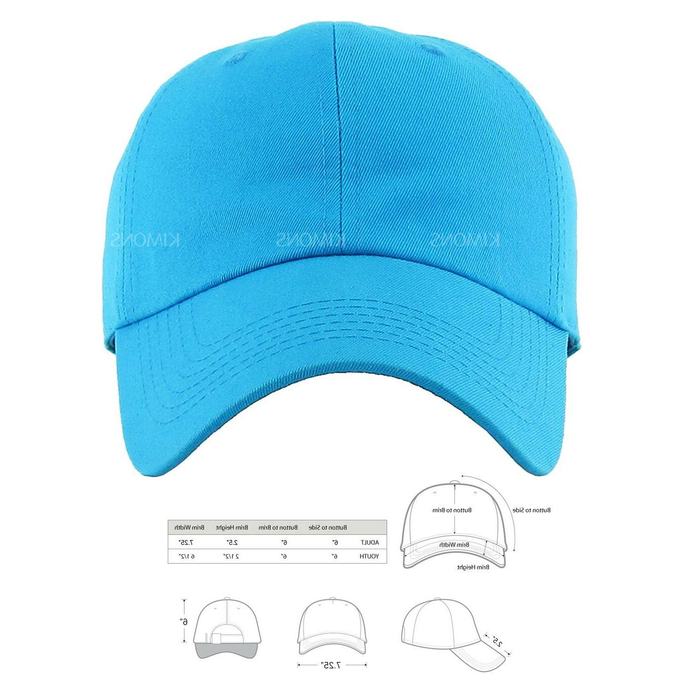 Polo Baseball Cap Ball Dad Adjustable Plain Solid Mens